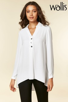 Wallis Cream Ivory Longline Shirt