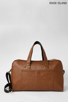 River Island Brown Pebble Holdall