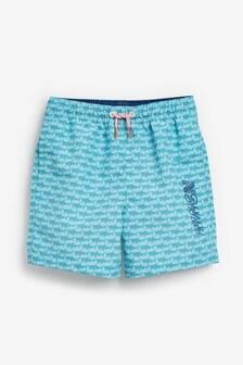 Shark Print Swim Shorts (3-16yrs)