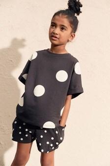 Spot T-Shirt And Short Set (3-16yrs)