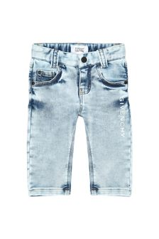 Givenchy Kids Baby Boys Blue Cotton Blend Jeans