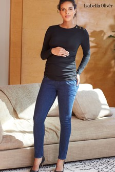 Isabella Oliver Black Super Stretch Maternity Skinny Jeans