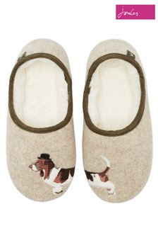 Joules Cream Mule Slippers