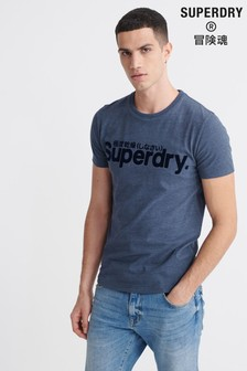 Superdry Core Faux Suede T-Shirt