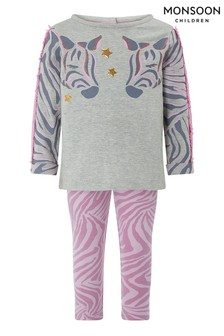 Monsoon Baby Zebbie Top And Leggings Set