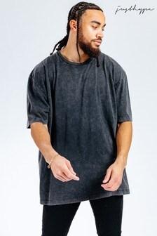 Hype. x Sesame Street Elmo Black Acid Wash Adults T-Shirt