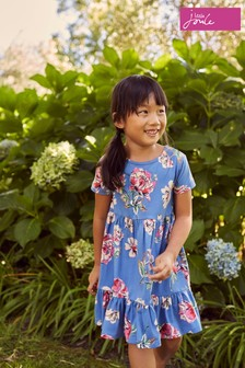 Joules Blue Evelyn Tiered Jersey Dress