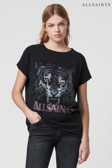 AllSaints Black Tiger Imogen T-Shirt