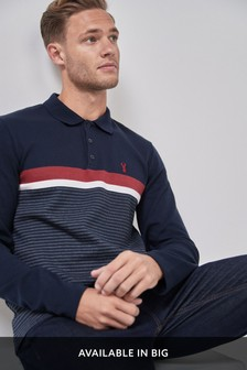 Long Sleeve Regular Fit Block Polo