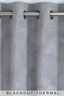 Cosy Fleece Eyelet Blackout Curtains