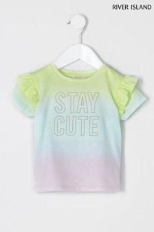 River Island Pink Stay Cute Tie Dye T-Shirt