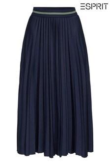 Esprit Blue Pleated Skirt