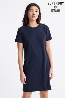 Superdry Navy T-Shirt Dress
