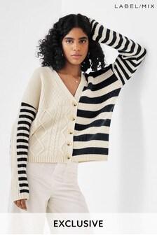Mix/Yaitte Cable Stripe Cardigan