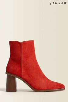 Jigsaw Red Conduit Leather Ankle Boots