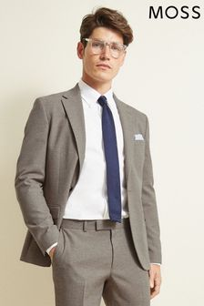 Moss London Slim Fit Neutral Unstructured Jacket