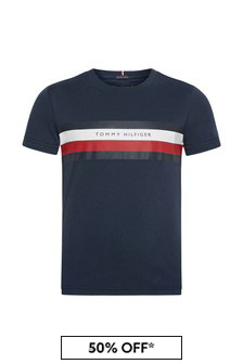 Tommy Hilfiger Boys Navy Cotton T-Shirt