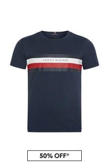 Tommy Hilfiger Navy Cotton T-Shirt