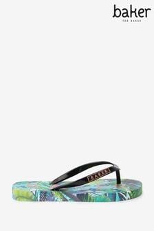 Baker by Ted Baker Tropical Printed Flip Flops