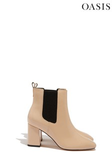 Oasis Grey Louise Patent Boots
