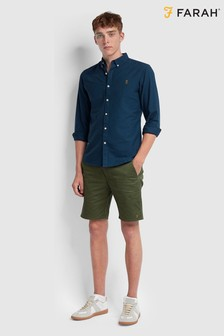 Farah Hawk Cotton Twill Chino Shorts