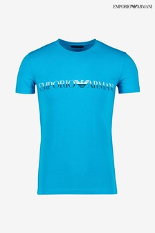 חולצת טי עם לוגו של Armani בצבע כחול