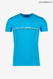 Armani Blue Logo T-Shirt