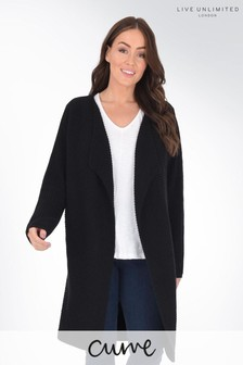 Live Unlimited Curve Waterfall Longline Cardigan