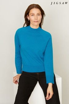 Jigsaw Split Neck Turtle Jumper