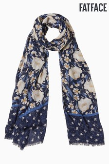 FatFace Blue Autumn Blooms Scarf