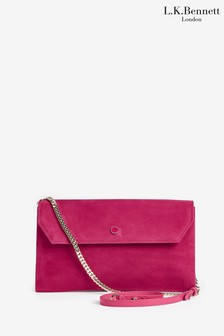 L.K.Bennett Pink Dora Envelope Clutch