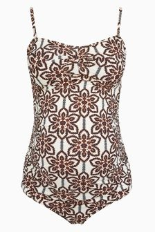 Tile Printed Maternity Swimsuit