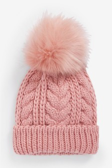 Chunky Cable Beanie Hat (Older)