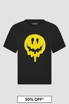 Balenciaga Kids Black Cotton T-Shirt