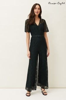 Phase Eight Green Jilly Lace Jumpsuit