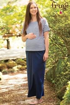 Frugi GOTS Organic Navy Maternity Maxi Skirt