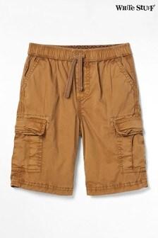 White Stuff Brown Niko Cargo Shorts