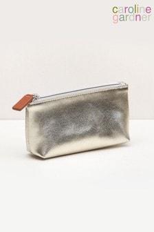 Caroline Gardner Gold Metallic Handbag Makeup Bag