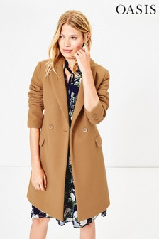 Oasis Tan London Formal Coat