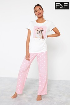 F&F Photographic Dog Packed Pyjamas