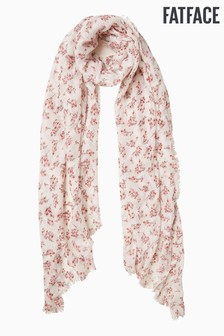 FatFace Natural Brush Stroke Floral Scarf