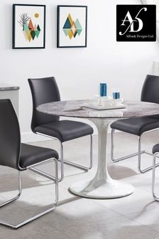 Vittoria Dining Table with 4 Chairs by Alfrank