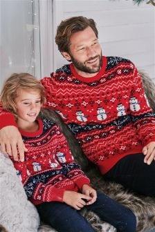 Джемпер с рождественским снеговиком (Мужчины)