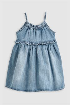 Denim Strappy Dress (3mths-6yrs)