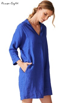 Phase Eight Blue Kathy Linen Dress