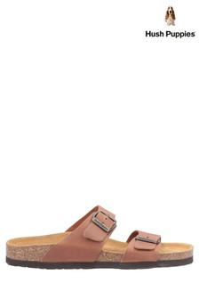 Hush Puppies Tan Kylie Mule Sandals