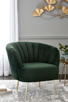 Stella Opulent Velvet Bottle Green Chair