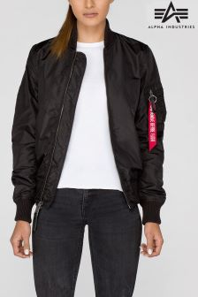 Alpha Industries Black MA1 Reversible Bomber Jacket