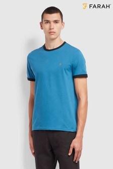 Farah Blue Groves Ringer T-Shirt