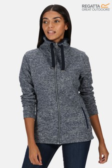 Regatta Blue Evanna Full Zip Drawcord Fleece